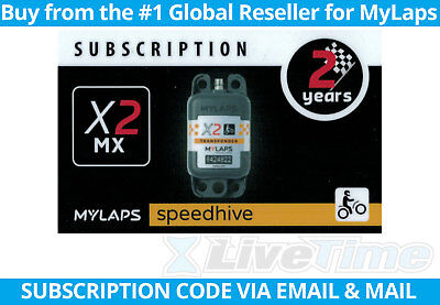 MyLaps X2 Subscription 2-year Renewal Card for MX Rechargeable Transponder