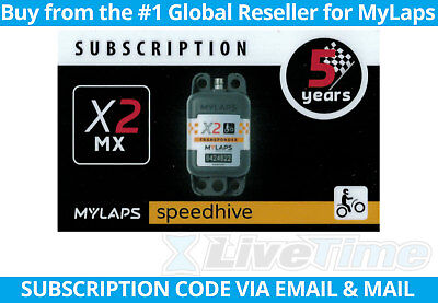MyLaps X2 Subscription 5-year Renewal Card for MX Rechargeable Transponder