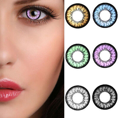 1 Pair Colored Contact Lenses Women Beauty Cosmetic Charming Eye Makeup Mode