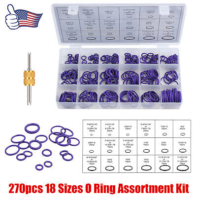 270PCS 18 Size O Ring Rubber Air Conditioning Kit Sealing gasket for door window