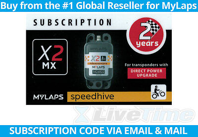 MyLaps X2 Subscription 2-year Renewal Card for MX Direct Power Transponder