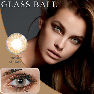 1 Pair Big Eye Makeup Charm Colored Contact Lenses Unisex Cosmetic Tool De Moda