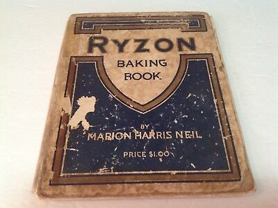 1918 Ryzon Baking Book Marion Harris Neil Rough Condition Vintage Old