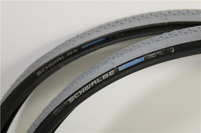 "Schwalbe ACTIVE 24"" x 1 Grey / Black Puncture Protected Wheelchair Tyre HS228"