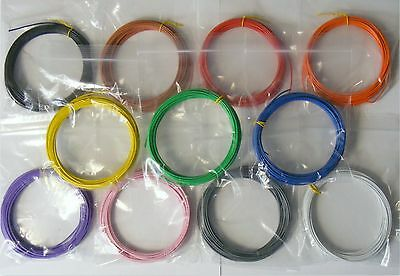 55m 1/0.6mm Equipment Wire Kit 11 Colours  22-23 AWG Single Solid Core WP-011618