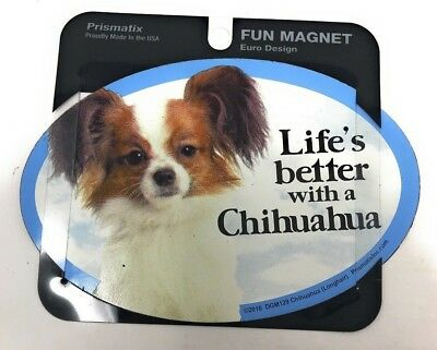 LIFE'S BETTER WITH A CHIHUAHUA MAGNET Dog, Cars, Trucks. Lockers