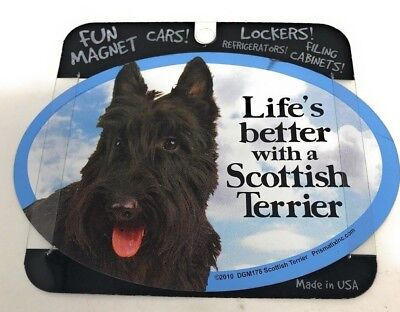 LIFE'S BETTER WITH A SCOTTISH TERRIER MAGNET DOG Dog, Cars, Trucks. Lockers