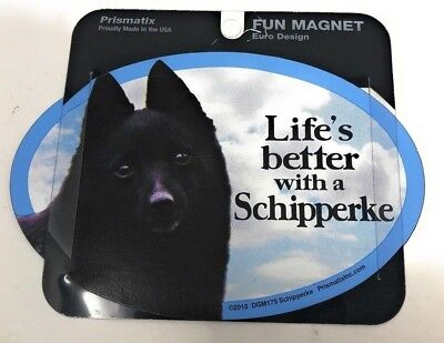 LIFE'S BETTER WITH A SCHIPPERKE MAGNET DOG Dog, Cars, Trucks. Lockers