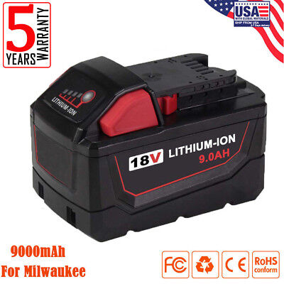 Replace For Milwaukee 48-11-1890 M18 M18B 18V 9.0Ah Li-Ion High Demand Battery