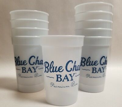 Blue Chair Bay Rum Plastic Color Changing Cups (10 Count) Kenny Chesny NEW