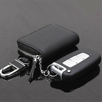 BL_ Car Key Wallet Holder Organizer Keychain Zipper Key Case Bag Pouch Purse Bra