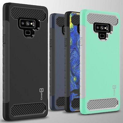 For Samsung Galaxy Note 9 Case - Hard Armor Phone Cover with Carbon Fiber