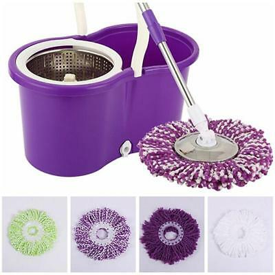 Microfiber Spining Magic Spin Mop Bucket Heads Rotating 360° Floor Mop 6L