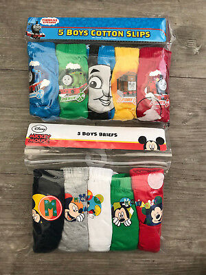5 x Pairs Boys Mickey Mouse Underwear Pants Briefs Age 1-5 Years