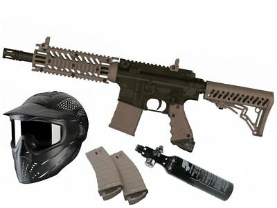 Paintball Set Tippmann TMC Magfed braun, inkl. 0,21l HP + JT Headshield Maske