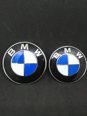 coppia 2 stemma badge bmw  cofano 82mm + 74 mm 320 330 530 x1 3 4 5 SERIE 1 2 3