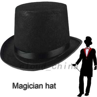 Magician Formal Black Felt Top Hat Costume Party Hats Halloween Cosplay AU Local