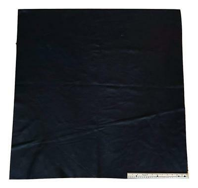 Upholstery Leather Piece Cowhide Black Light Weight; 3 feet x 3 feet, 9 SF