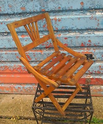 vintage childs fold up chair and table