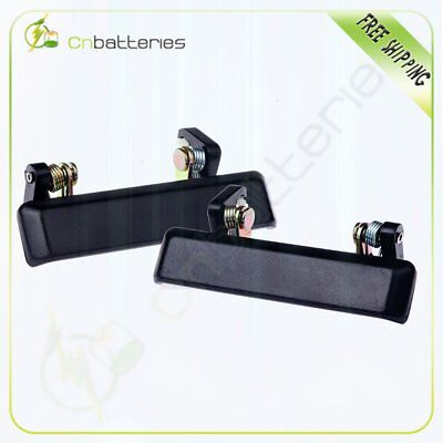 Front Outside Exterior Door Handle Black Left &Right Side 2pcs for 86-95 Samurai