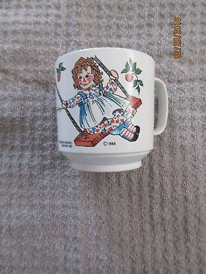 Vintage Raggedy Ann & Andy Child's Cup-The Bobbs-Merrill Co.Inc-1969 Oneida-Ware