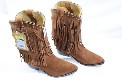 3e9f89647022 Size 5 Smoky Mountain 3514 Girl s Wisteria Double Fringe Leather Boots -  B286
