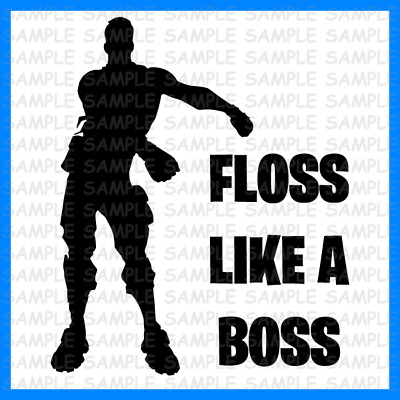 Fortnite Floss Like A Boss Vinyl Sticker Kids Ps4 Xbox Gaming Boys