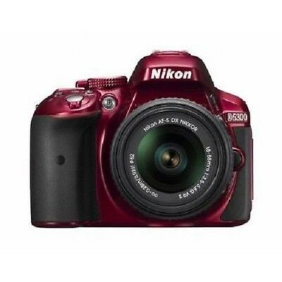 USED Nikon D5300 with AF-S 18-55mm ED VR II Red Excellent FREE SHIPPING
