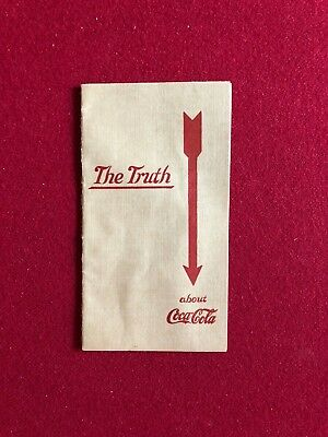 "1912, Coca-Cola, ""The Truth about Coca-Cola"" Booklet  (Scarce)"
