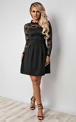 2610583f6206 IKRUSH WOMENS ANYELLE Lace Skater Dress - £18.99 | PicClick UK