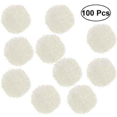 100pcs 20mm Stainless Steel Tobacco Smoking Smoke Screen Pipe Metal Filters Gold