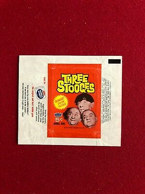 "1966, ""Three Stooges"", Fleer Trading Card Wrapper (Scarce)"