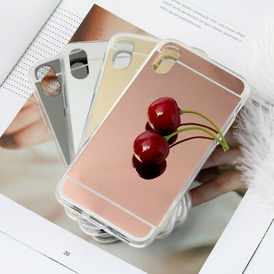 For iPhone X Luxury Ultra-thin Mirror Case Clear Soft Cover Silky Smooth 1PC