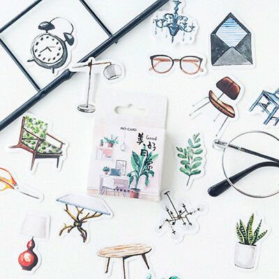 Daily Succulent Plants Weather Paper Sticker Decal Scrapbook Diary Ablums Decor