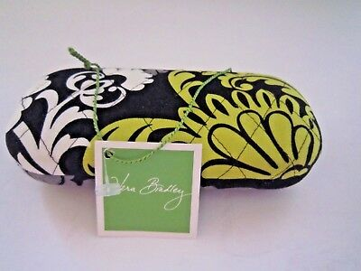 827d14607a VERA BRADLEY HARD SHELL EYE GLASSES CASE- black and green 6 1 2X3