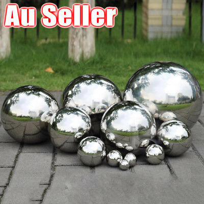 AU Stainless Steel Mirror Sphere Polished Hollow Ball Home Garden Ornament Decor