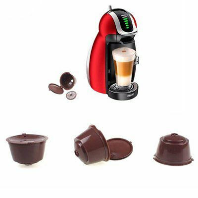 3/6PCs Refillable Reusable Coffee Capsule Filter for Nescafe Dolce Gusto Kit