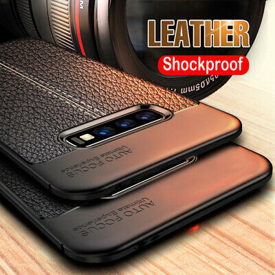 For Samsung S10E S10+ S9 S8+ S7 S6 S5 S4 Shockproof TPU Leather Back Case Cover