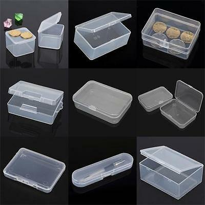9 Types Plastic Clear Transparent Storage Box Multipurpose Display Case Holder #
