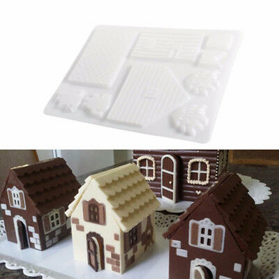 Baking Tool 3D Christmas Gingerbread House Set Mold Chocolate Cake Mould Cake