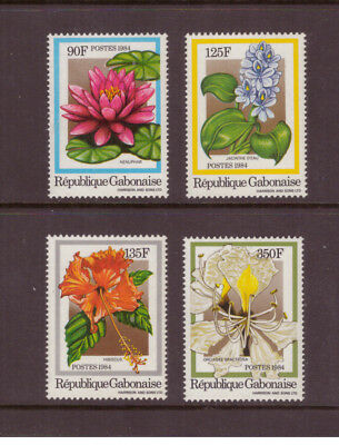 Gabon MNH 1984 Flowers set mint stamps