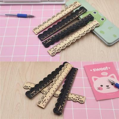 15cm Cute Japanese Wooden Ruler Lace Vintage gift Stationery School Pro