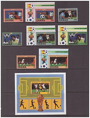 Ghana 1982 Football World Cup  Spain  mint MNH set stamps