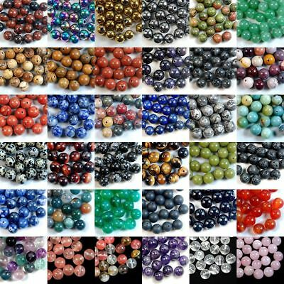 4 6 810mm Wholesale Lots Natural Gemstone Round Spacer Loose Beads Stone Jewelry