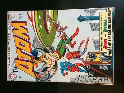 The ATOM #7 (DC) 1st HAWKMAN x/over KEY! Kane/Anderson c/a. Fox-s. F/VF (7) 1963