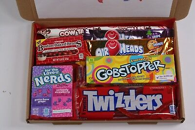 American sweets gift box - USA candy hamper - nerds - Air heads