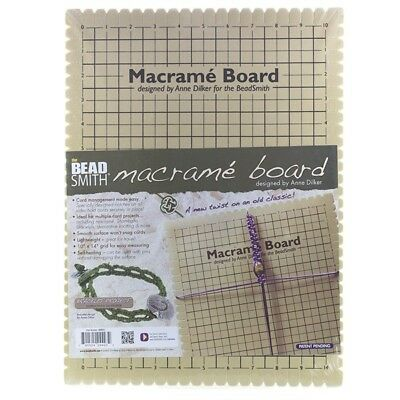 """Beadsmith Large Macrame Board With Instructions 10"""" (G15)"""