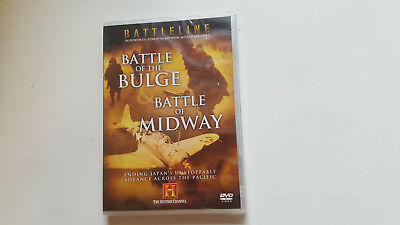 * New Sealed Dvd Film * Battle Of The Bulge + Midway * History Channel
