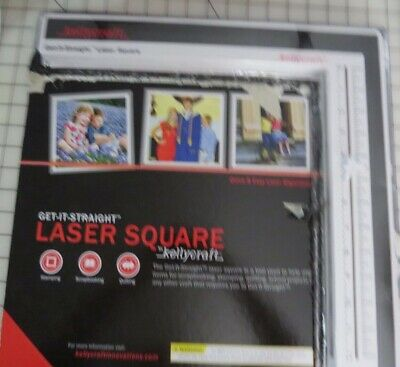 Kellycraft Get It Straight Laser Square - Use for Deco Card Making, Scrapbooking