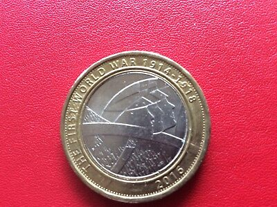 FIRST WORLD WAR WWI -  The 'ARMY'  -1914 -1918 - 2016 - UK £2 / Two Pound Coin